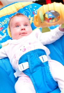kicking makes the toy move baby understands what to do to make it work developing strong leg muscles